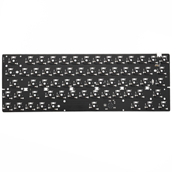 Bm60rgb bm60 rgb 60% gh60 quente swappable personalizado teclado mecânico pcb programado qmk firmware completo rgb interruptor underglow tipo c