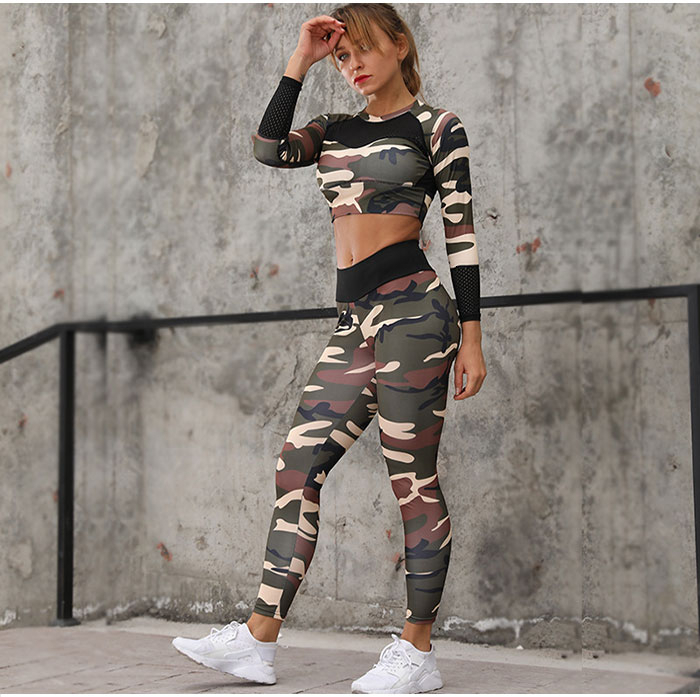 H35d8ff9b12ae4f46860c1248182a26883 - Camouflage Fitness Set Female 2 Piece Yoga Sets Women Gym Clothes Running Sport Woman Sportswear Sexy Ensemble Wear Gym Outfit