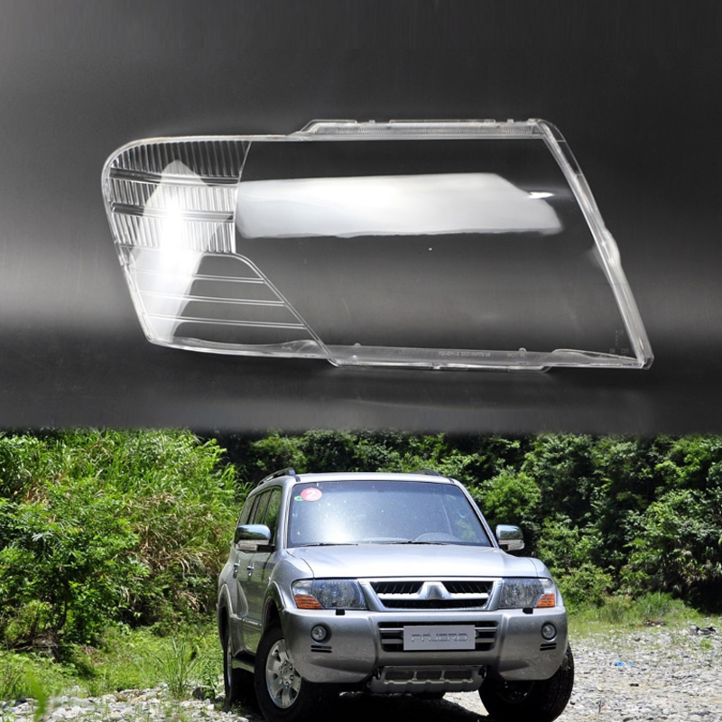 2pcs for Mitsubishi Pajero V73 V75V77 2003-11 lens shell lampshade headlight lampshade transparent headlight cover lens