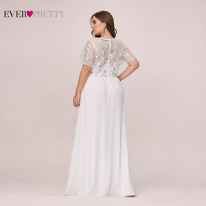 Image 2 - בתוספת גודל נצנצים ערב שמלות ארוך פעם די אונליין V צוואר קצר שרוול אלגנטי המפלגה שמלות העבאיה Gece 2020