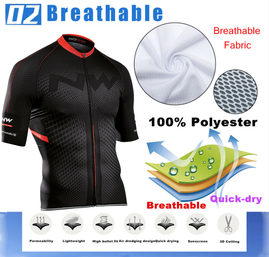 Northwave Nw Summer Cycling Jersey Set Breathable MTB Bicycle Cycling Clothing Mountain Bike Wear Clothes Maillot Ropa Ciclismo 3