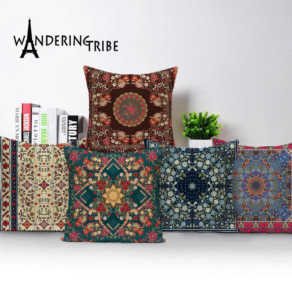 scandinavian style vintage throw pillow covers geometric cushions farmhouse decorative cushion cover sofa home decor pillow case