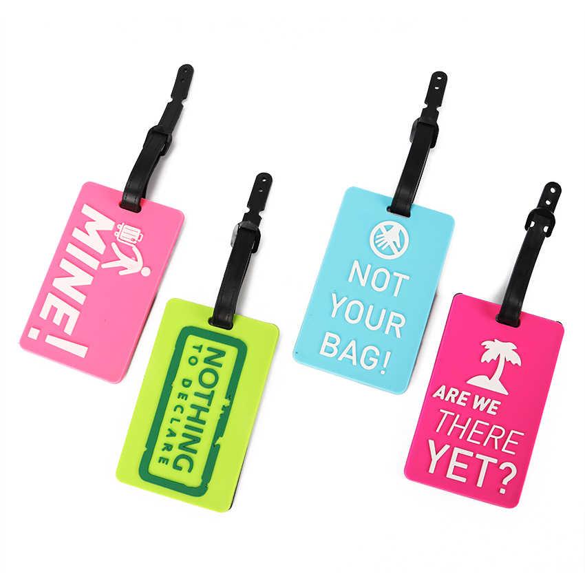 Maleta nueva Etiquetas de equipaje etiqueta identificadora Dirección de identificación titular protección ambiental cubierta equipaje etiqueta viaje Accesorios