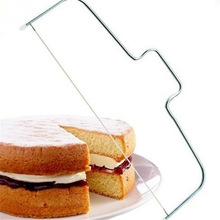 Kitchen Gadget Accessories Stainless Steel Adjustable Wire Cake Cutter Slicer Leveler DIY Cake Baking Tool Fruit Cake Decorating stainless steel wire cake cutter slicer adjustable diy butter bread divider pastry cake kitchen baking tools