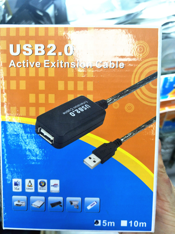 5//10//15//20m USB 2.0 Active Repeater Male to Female Extension Cable Adapter Cord