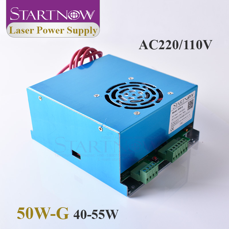 Startnow 50W-G 50W Laser Power Supply CO2 MYJG-50 45W 55W 110V 220V For Laser Cutter Carving Machine Parts Equipment Accessories