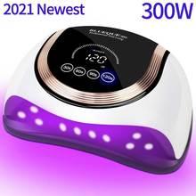 300W Nail Dryer UV Gel Polish Drying Lamp For Manicure With Smart Sensor 60LEDs Professional UV LED Nail Lamp For Nail Art Salon