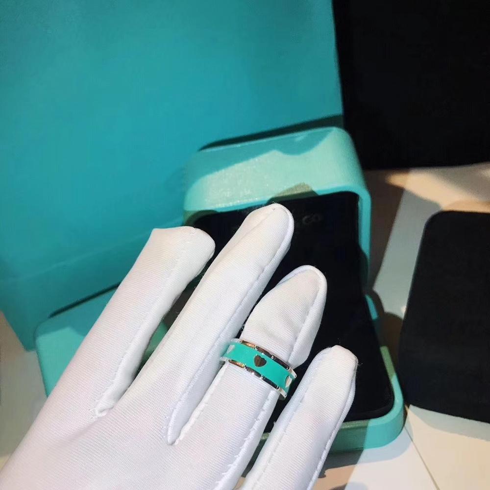 여성을위한 TSHOU353 로맨틱 925 스털링 실버 라운드 블루 반지 라운드 반지 실버 쥬얼리 weddding 린 파티 쥬얼리 선물