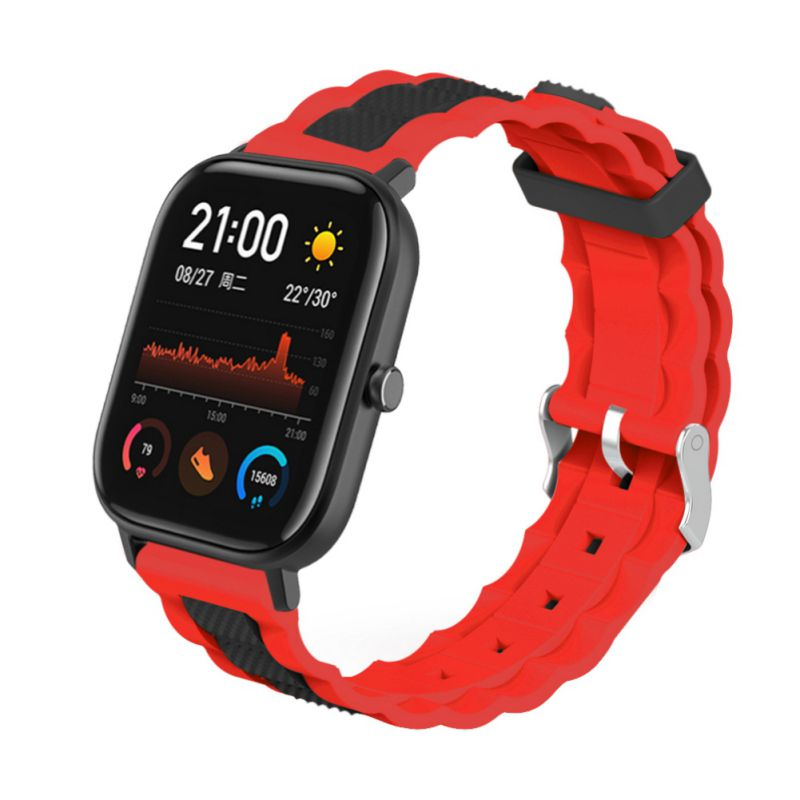 <font><b>Watch</b></font> Band <font><b>Strap</b></font> Pin Buckled Adjustable Silicone Wristwatch Bands Replacement Accessories For Huami Amazfit <font><b>GTS</b></font> <font><b>20mm</b></font> image