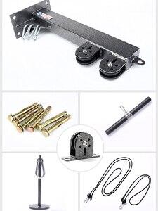 Фитнес-Ролик DIY кабельный тренажер Blaster со шкивом насадками бицепс Трицепс тренировка предплечья Тяговая Веревка Защита для запястий для роликов
