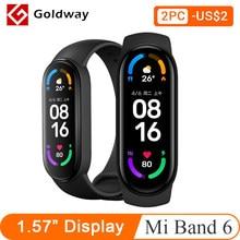 Xiaomi – Bracelet connecté Mi Band 6, AMOLED, capteur d'activité physique avec suivi du taux d'oxygène dans le sang et fréquence cardiaque, Bluetooth, étanche