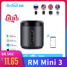 Broadlink Original RM Mini 3 WiFi+IR Smart Home APP Remote Control for Alexa Google Home IFTTT with UK AU US EU Adapter SP3 Plug origial fishing bait boat spare parts remote control antenna us uk eu plug adapter replacement float tube propellers pc board