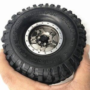 "Image 5 - 4PCS 120*48MM 1.9 ""Gummi Reifen Rad Reifen für 1:10 RC Rock Crawler Axial SCX10 SCX10 II 90046 90047 TAMIYA TRX 4 TRX4"