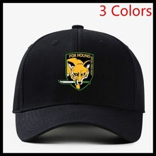 Solid Foxhound Logo Baseball Hats Men Women Cap Black Red Blue(China)