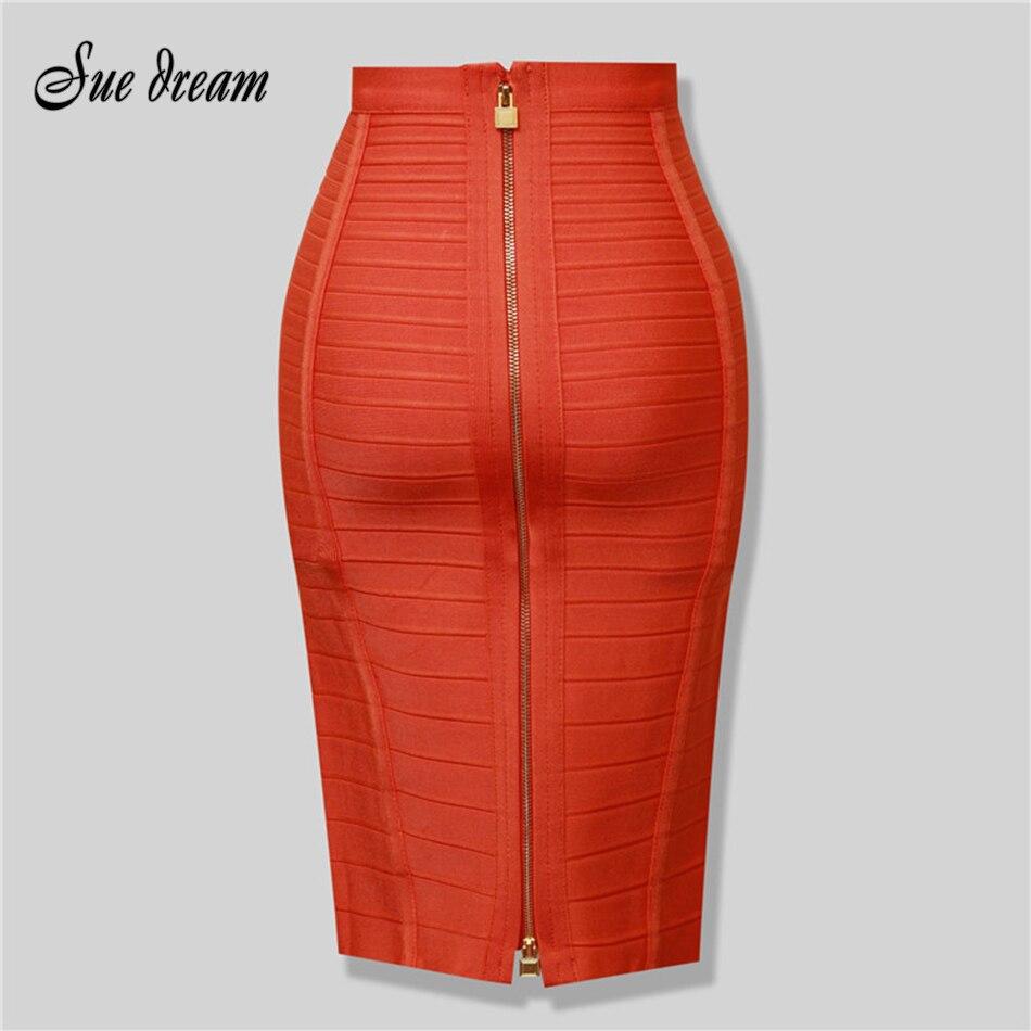 Женская облегающая юбка-карандаш на молнии, черные, красные, синие, оранжевые, вечерние, новинка 2020