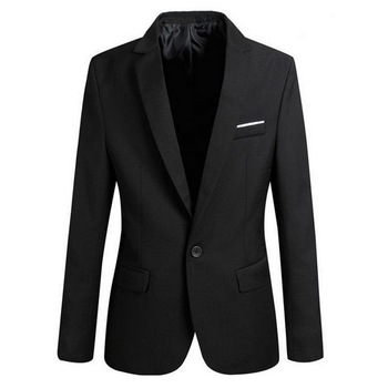 2020 Men Slim Fit Social Blazer Spring Autumn Fashion Solid Mens Wedding Dress Coat Casual Size Business Male Suit Jacket