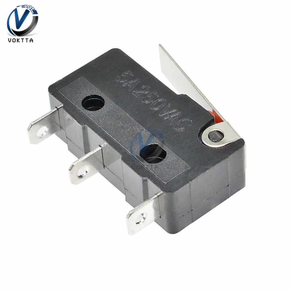 1 pièces KW11-3Z interrupteur tactile 250V 5A AC 3 broches Microswitch poignée ronde bouton de Contact interrupteur de Position marche-arrêt