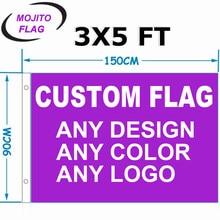 3 'x 5 'drapeaux de bannière personnalisés 3x5FT volant 100D Polyester-bannière publicitaire extérieur intérieur toute taille/Logo/images-livraison gratuite
