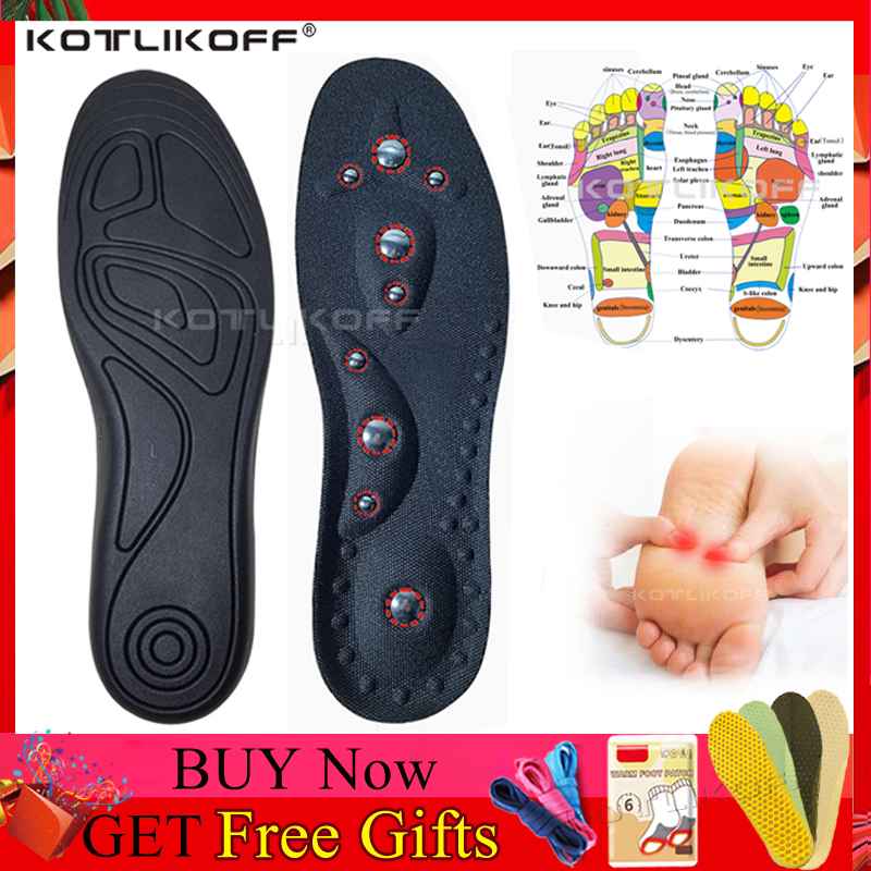 High Quality Magnetic Therapy Magnet Massage Insoles Men/ Women Therapy Acupuncture Insoles Magnetic Slimming Massaging Insert