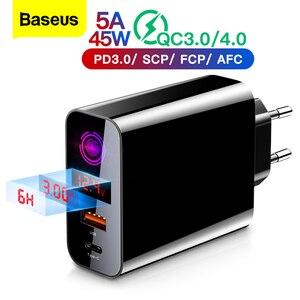 Image 1 - Baseus Quick Charge 4,0 3,0 USB зарядное устройство для iPhone 11 Pro Max Samsung Huawei мобильный телефон QC4.0 QC3.0 QC Type C PD быстрое зарядное устройство