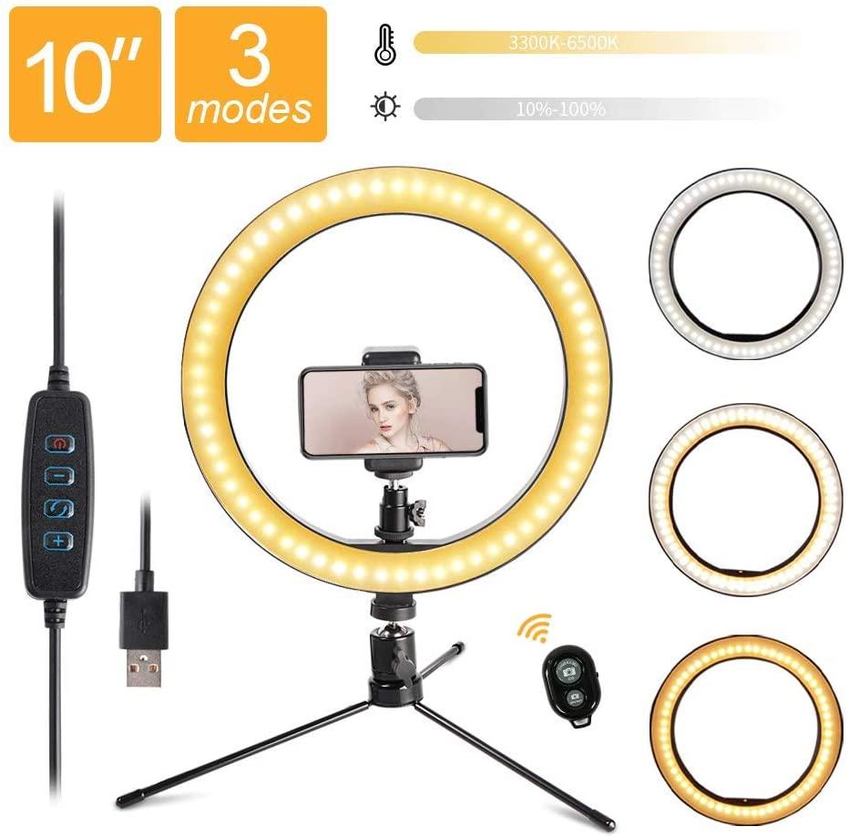 10 дюймовый светодиодный свет Dimmable селфи кольцо видео кольцо лампа с штатив разъем USB для YouTube видео съемка