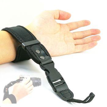 цена на Neoprene Soft Quick Detachable Wrist Hand Strap for Canon Nikon Sony Fujifilm Fuji DSLR Camera