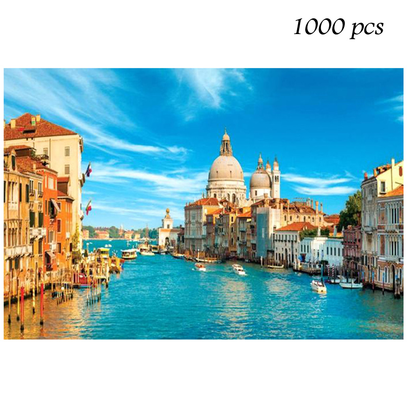 Puzzle 1000 Pieces 35 Kinds Of Pictures Large Puzzle Game Interesting Personalized For Kids/Adults Birthday Gift Venice