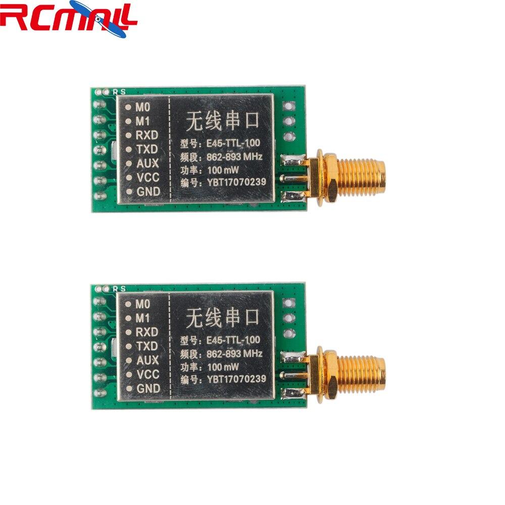 2Pcs/lot 868MHz LoRa SX1276 100mW 20dBm RF Transmitter Receiver Wireless Module UART Long Range Transceiver 3000m 3KM FZ2909