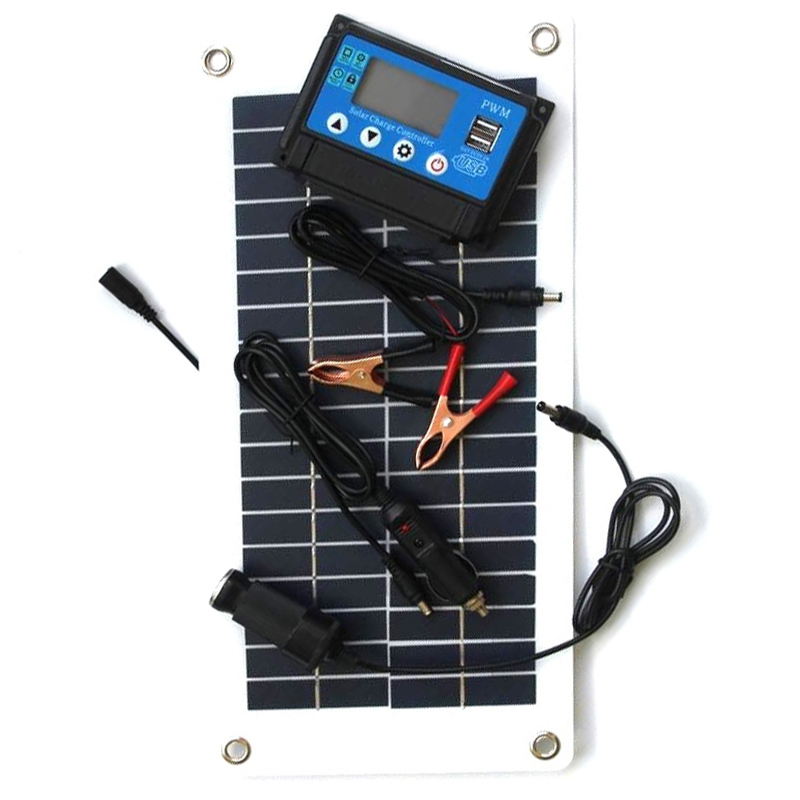 10W 18V Solar Panel Solar Charge Controller Flexible Solar Charger for 12V Car RV Boat Battery Charging