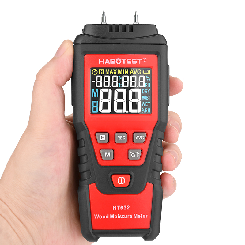 9percent Tester Digital Wood Moisture Meter Wood Detector Paper Cement Timber Tester 99 0 HABOTEST Humidity Hygrometer Concreate Damp