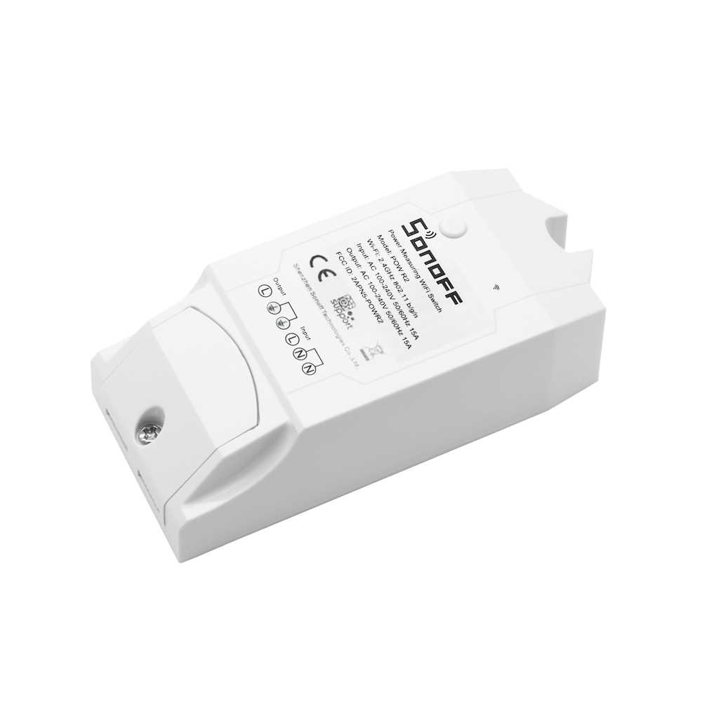 Sonoff Pow R2 ITEAD inteligente interruptor inalámbrico inteligente WiFi soporte interruptor para Alexa/Google Voz Control APP control remoto