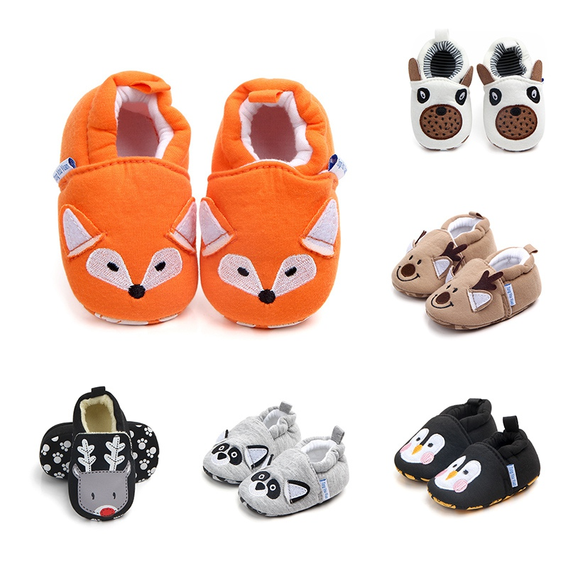 2018 Cotton Baby Shoes Spring Cartoon Animal Baby Girl Shoes First Walkers Fashion Casual Baby Boy Shoes