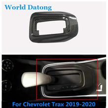 For Chevrolet Trax 2019-2020 Central Console Gear Shift Panel Carbon fiber ABS Decoration Trim / Matte silver