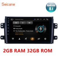 Seicane high Version RAM 2GB+ ROM 32GB Android 8.1 9 2Din Car Radio GPS Multimedia Unit Player For 2006 2007 2012 Suzuki SX4