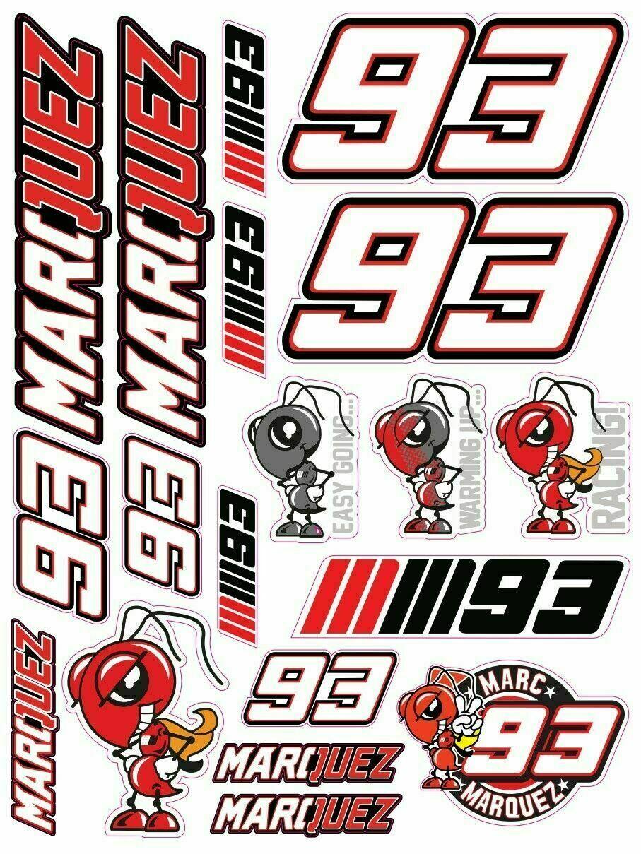Автомобильная наклейка на шлем наклейки подходит для Маркес 93 наклейки Набор 20 стикеры ламинированные Repsol Honda солнцезащитный крем Водонепр...