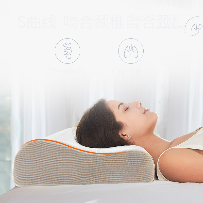Sleeping Pillow Memory Foam Protect The Cervicale Ergonomic Curve Cervical Orthopedic Neck Bed Sleeping Head Cushion Pillow