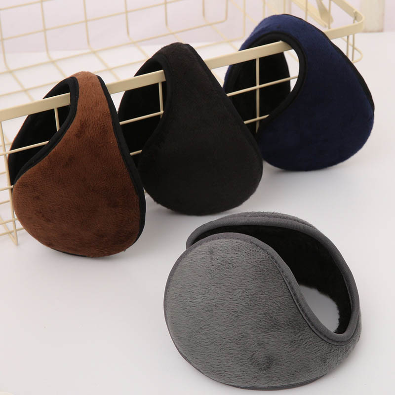 Men Winter Earmuff Foldable Solid Thicken Ear Warmer Earmuffs