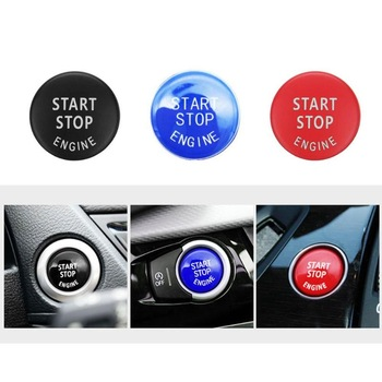 Car Engine START Button Replace Cover Switch Accessories Key Decor for BMW X1 X5 E70 X6 E71 Z4 E89 3 5 Series E90 E91 E60 New image