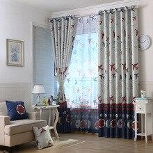Cartoon Curtains for Living Dining Room Bedroom Football Children Curtains Custom Children s Room Boys Girls