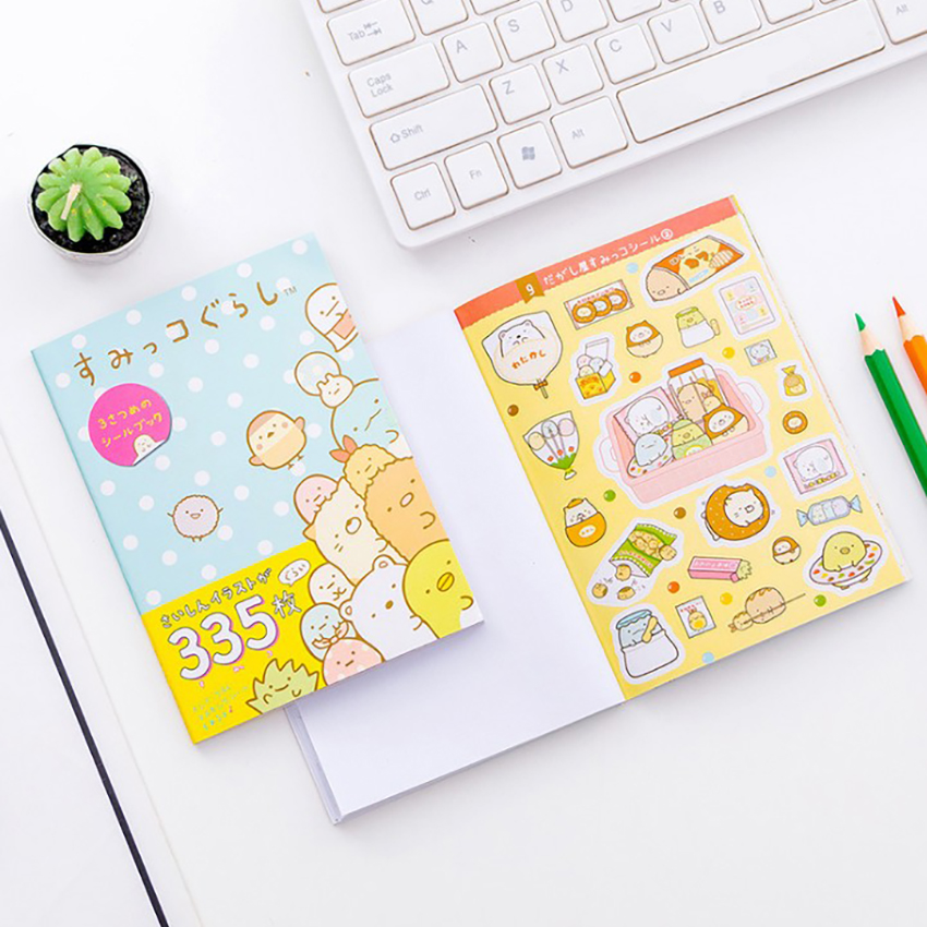 10*14cm Cartoon Corner Biological Stickers Cute DIY Diary Paper Sticker Book Decoration Album Decorative Stationery Sticker