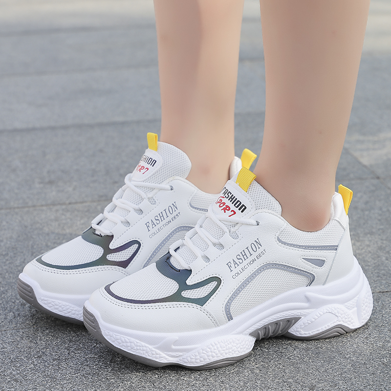 Low Top Women Casual Shoes Fashion Sneakers Breathable Sport Women Trainers Platform Ladies Shoes White Sneakers XU124