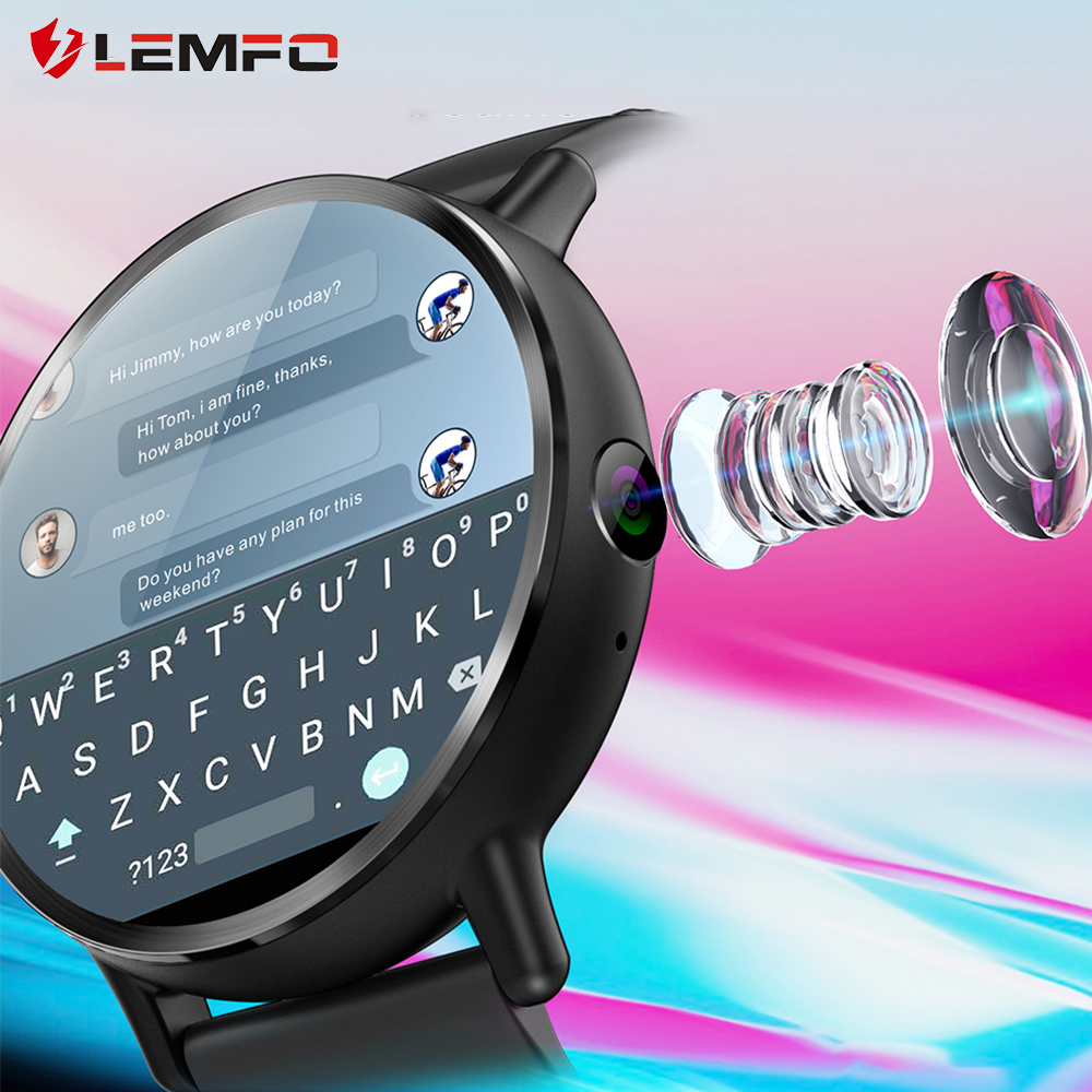 Мужские смарт-часы LEMFO LEM X, часы водонепроницаемые на Android 7.1 4G экран 2.03 дюйма, аккумулятор 900 мАч, камера 8 МП, функция GPS