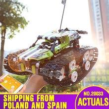 Игрушка малыш Technic серия Радиоуправляемый трек дистанционного управления гоночный автомобиль набор строительных блоков кирпичи развивающие игрушки, совместимые с 20033