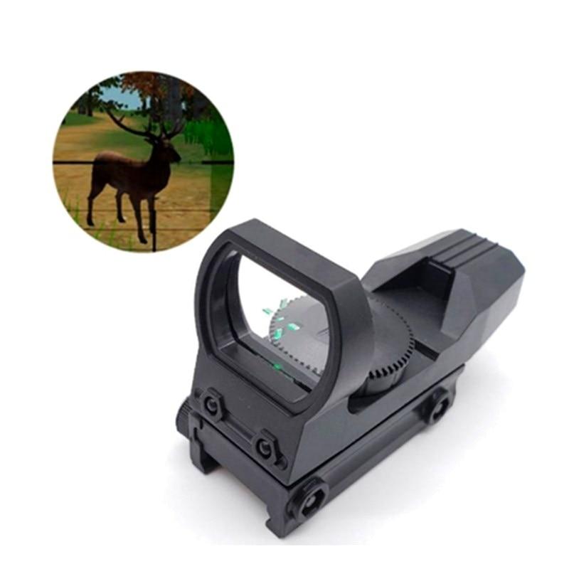 20mm Rail Riflescope Hunting Optics Holographic Red Dot Sight Reflex 4 Reticle Tactical Scope Collimator Sight Plastic