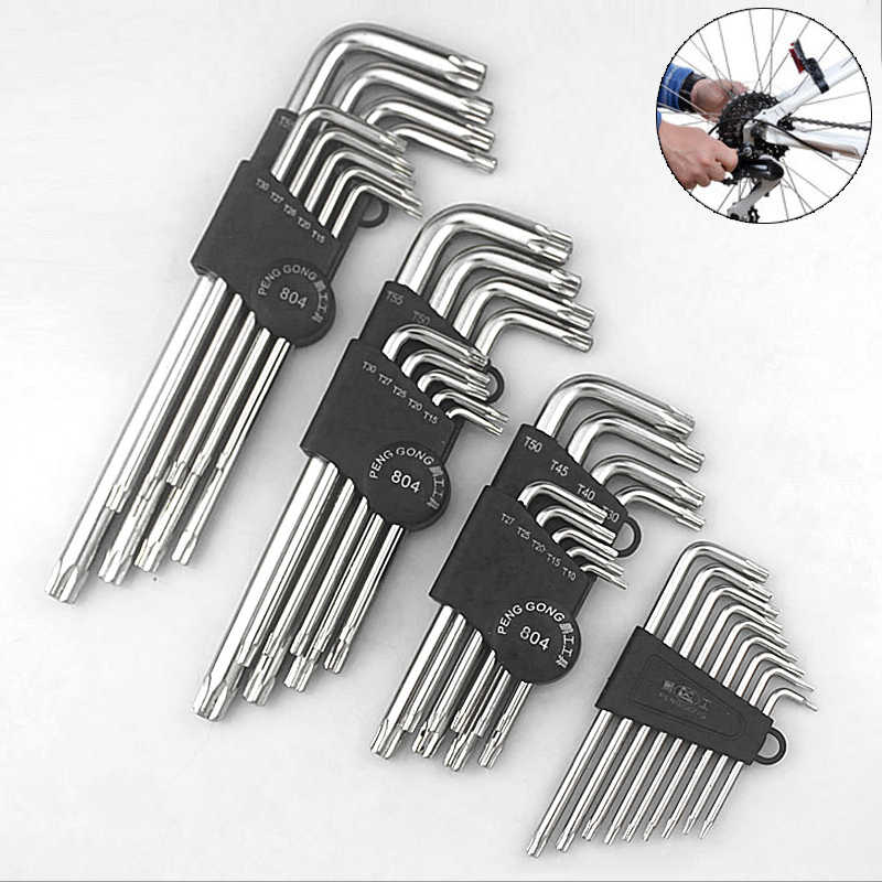 Hex Wrenches Pro Bicycle Repair Hand Tools 8pcs//Set Hexagon Spanner Screwdriver