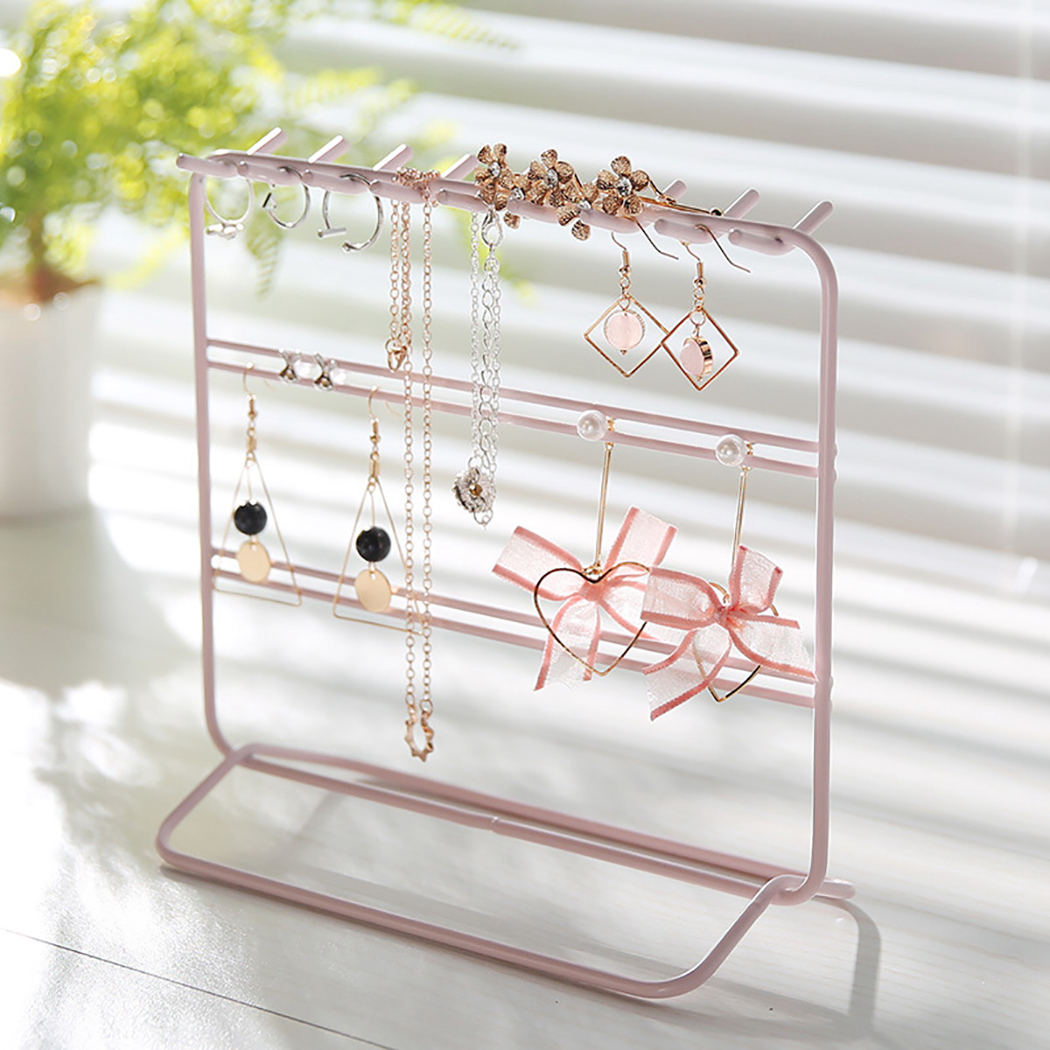 Iron Frame Jewelry Hanger Metal Decorative Simple Jewelry Organizer Earring Holder Earrings Jewelry Display Window Decoration