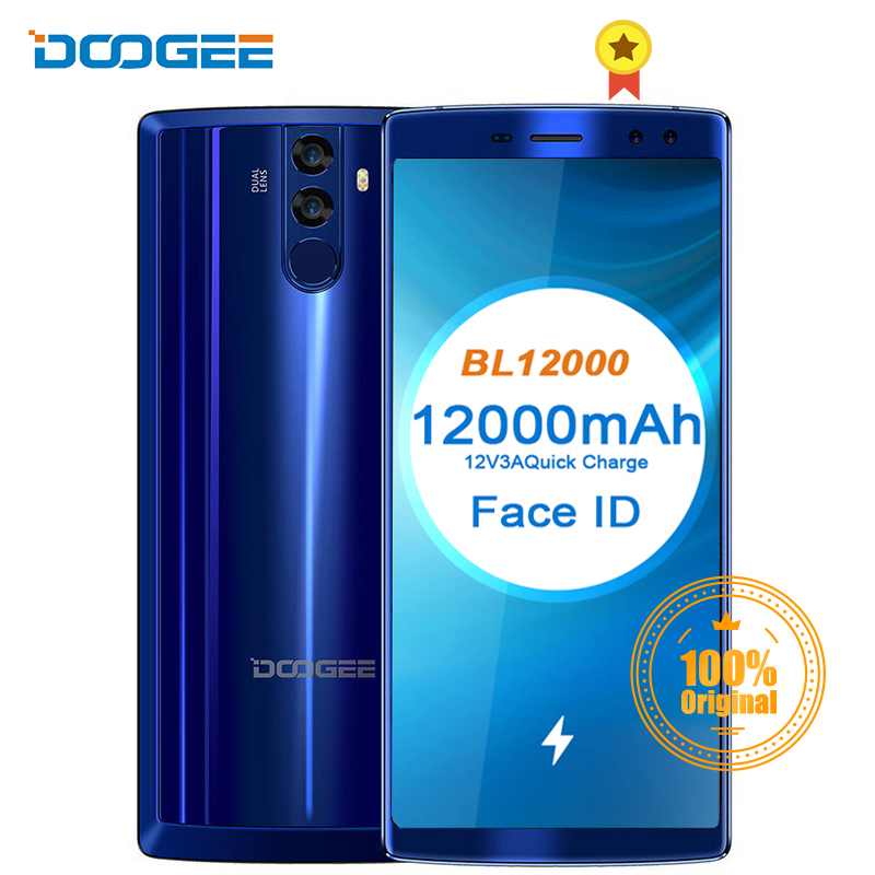 DOOGEE BL12000 Smartphone 12000mAh charge rapide 6.0 ''18:9 FHD affichage MTK6750T Octa Core 4GB 32GB 16MP caméra Android 7.1 téléphones