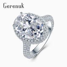 Женское Обручальное Кольцо gerenuk cz с большим цирконием и
