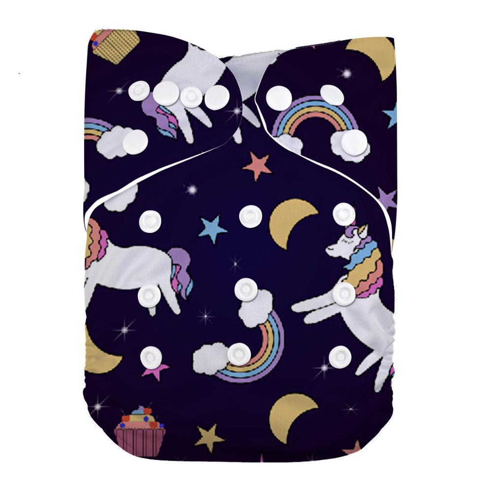 LilBit Baby New Printed Design Reusable Washable Pocket Cloth Diaper