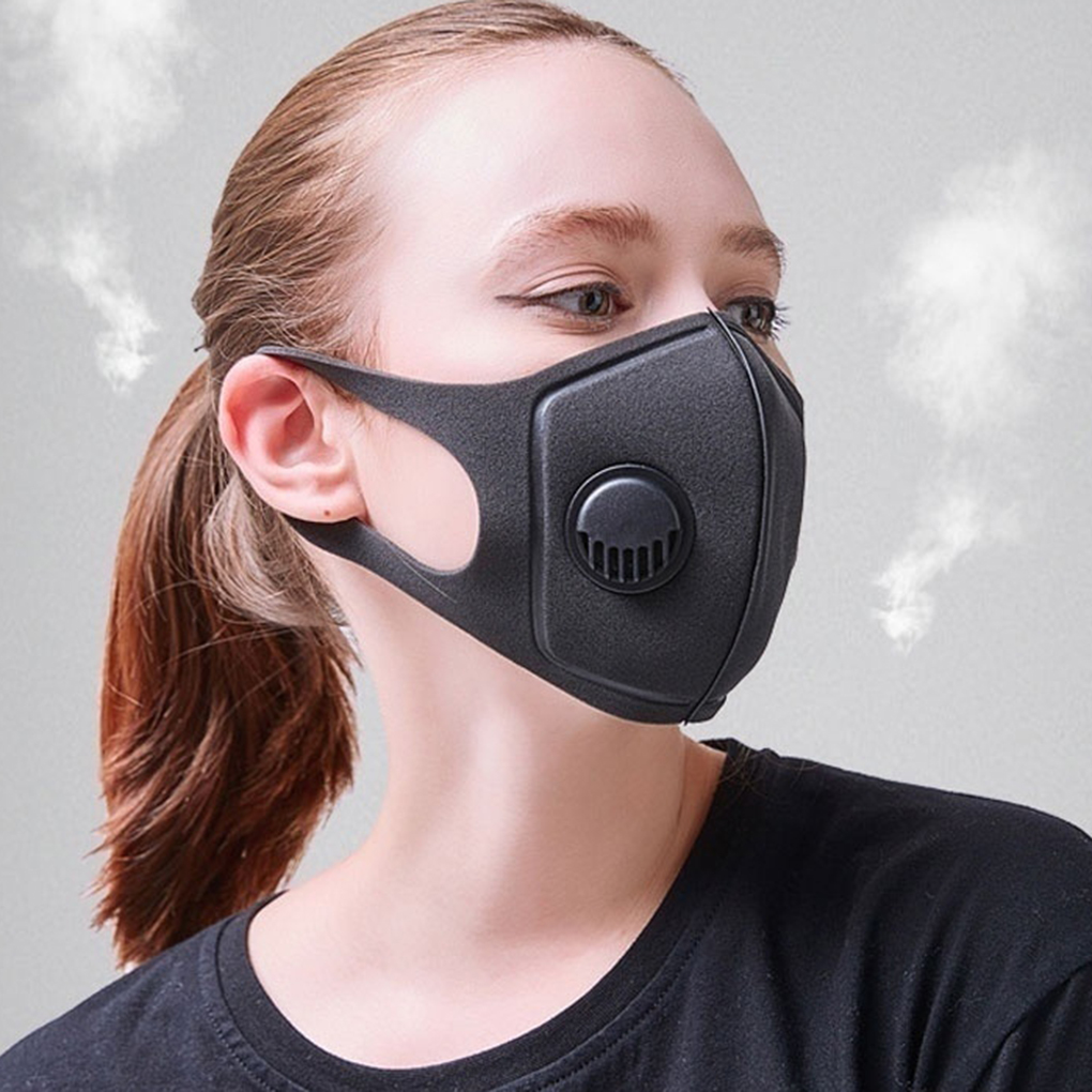 In Stock Sponge Dustproof PM2.5 Pollution Half Face Mouth Mask With Breath Wide Straps Washable Reusable Muffle Respirator